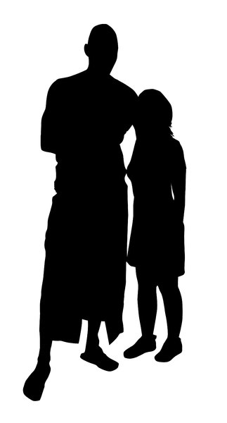 Pair: A couple silhouette.