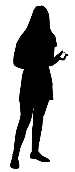 A girl with business card: Just a silhouette for you. Do you like it?