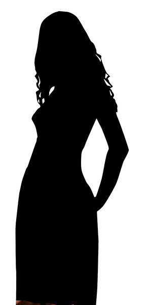 A model: Silhouette of a girl.