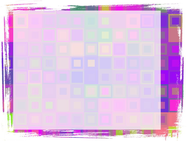 Cheerful Grungy Banner 2: A cheerful and eyecatching grunge banner with a rough edge and a pattern of squares in various colours. Plenty of copyspace to write your message.