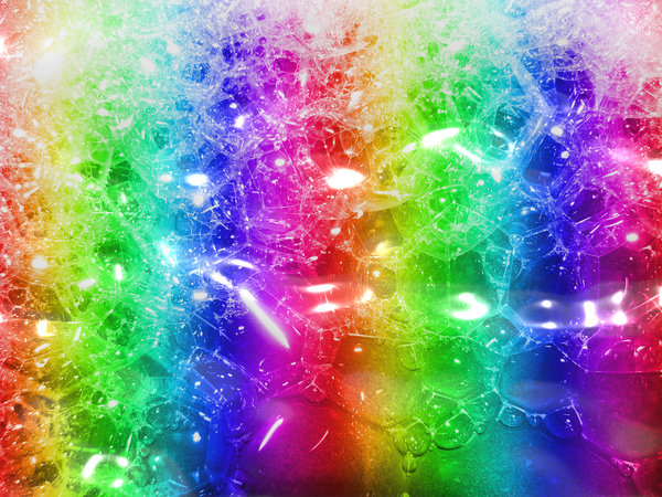 Rainbow Bubbles: Froth and bubbles in rainbow colours. Great texture, background or fill.
