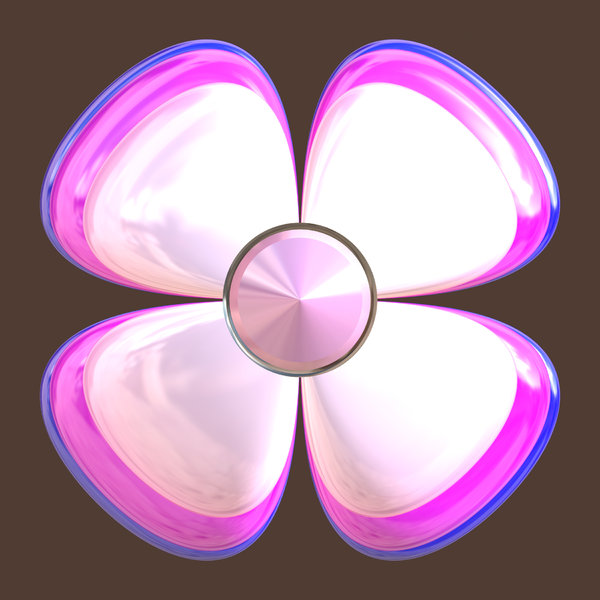 Graphic Flower 2: A graphic 3D cartoon flower, big and cheerful. Could be used as a button, icon, texture, or cut out and duplicated.