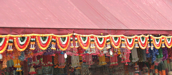 garlanded decorations