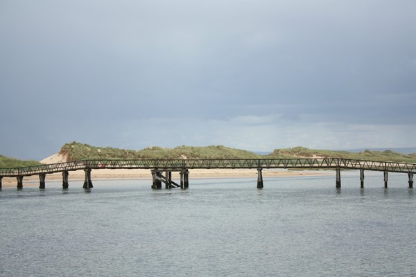 Footbridge: Footbridge over the Lossie river in Lossiemouth, Scotland