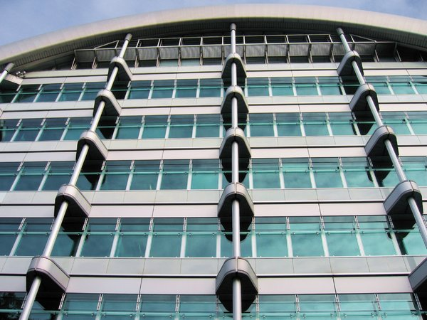 modern business glass facade