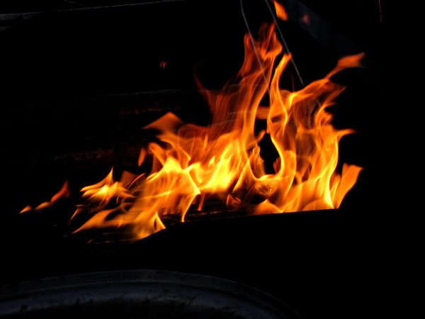 in the fire