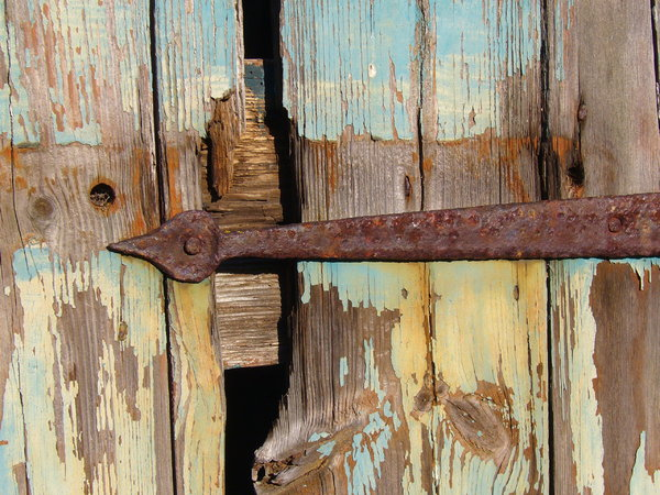 Rusty Hinge: I captured this on a barn near the beautiful village of Blanchland in Northumberland - I was struck by the richness of the colours and textures.