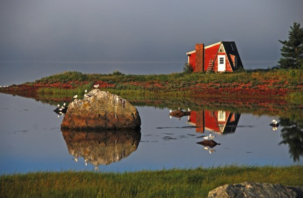 Red Cabin on the Point