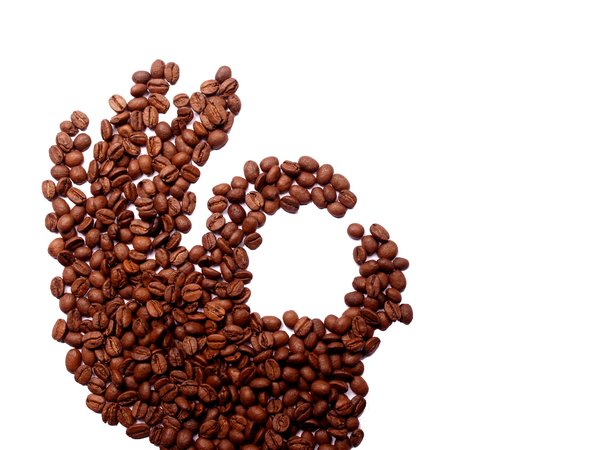 Okay coffee beans: The sign okay formed by fingers made out of coffee beans