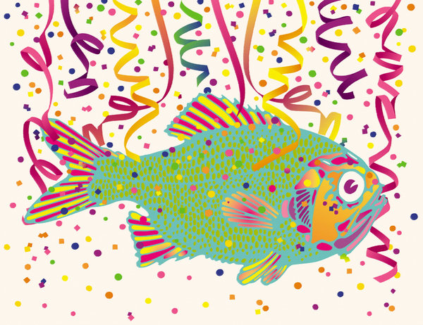 Confetti Fish 2: An abstract painting of a colorful fish.Please support my workby visiting the sites wheremy images can be purchased.Please search for 'Billy Alexander'in single quotes atwww.thinkstockphotos.comI also have some stuff atdreamstime - Billyruth03Look for me