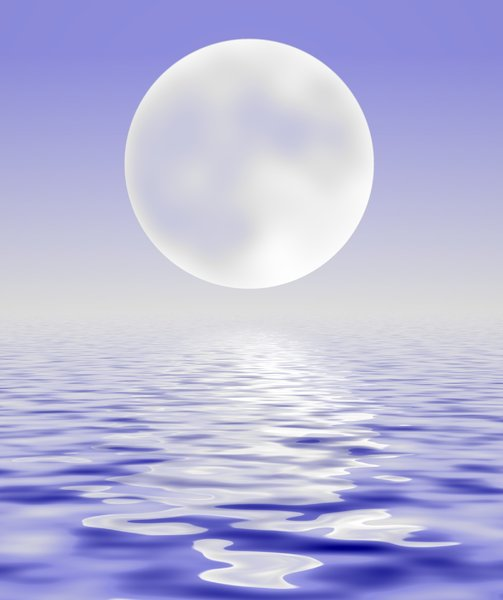 Water and Sky and Moon