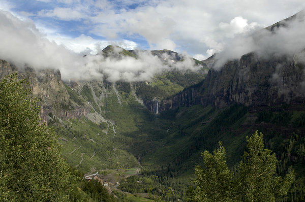 Telluride, Colorado: Shot taken entering Telluride, Colorado from the Imogene Pass