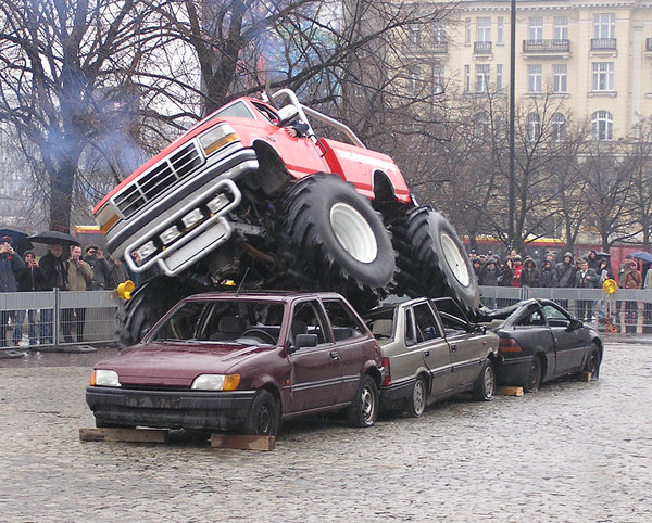 Monster truck: A show in Poland.