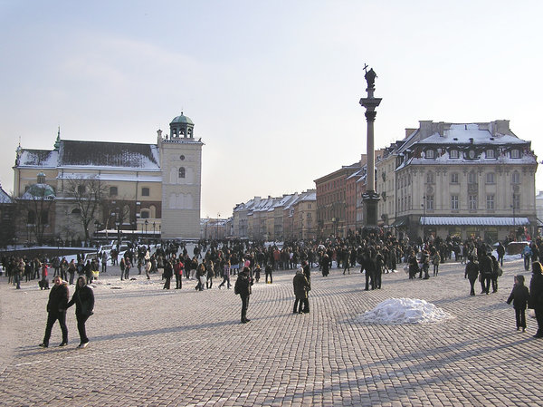 Warsaw's Old Town in winter: A winter in Warsaw.