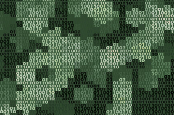 Binary Background 1: A binary texture or background in shades of green.