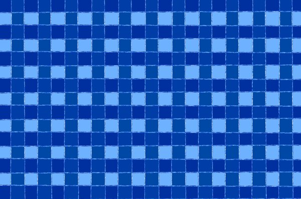 Squares background: checkered blue background