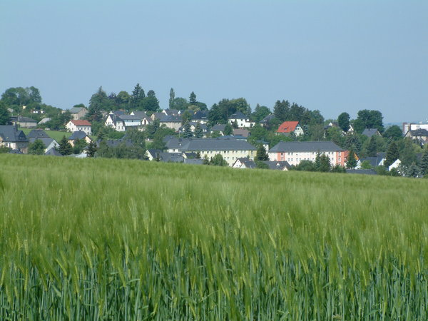 Village in the sun