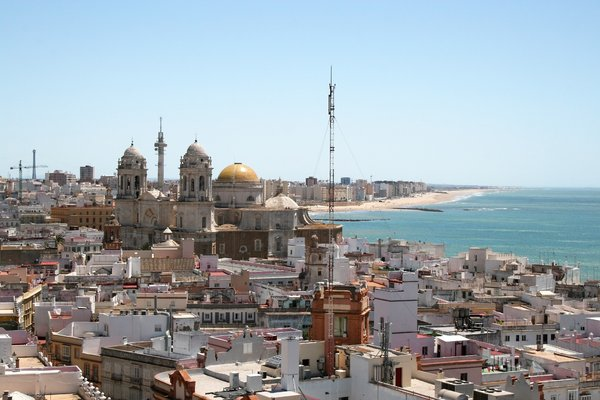 Cadiz: View of the city of Cadiz, Spain.