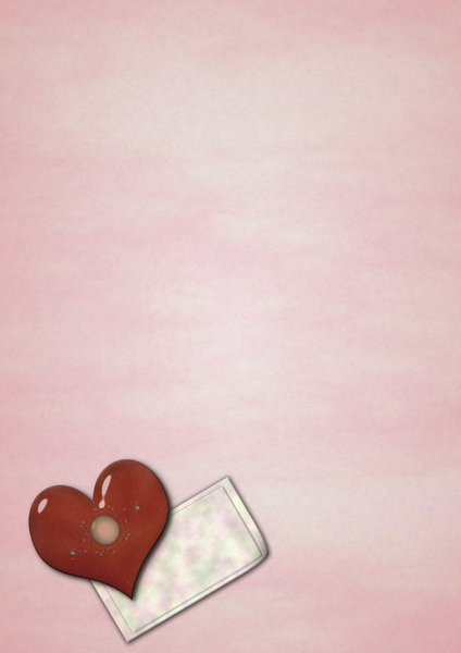 Valentine note paper: Simple sheet of note paper with heart