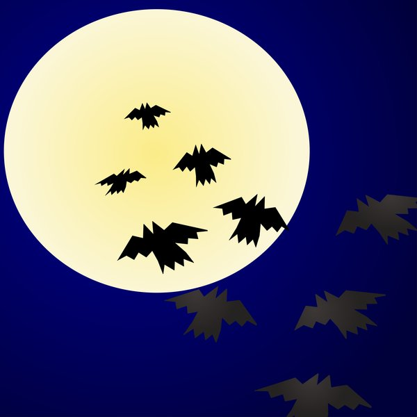 Halloween: Vampires in the pale moonlight.