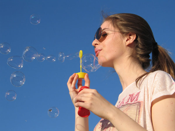 blowing bubbles: none