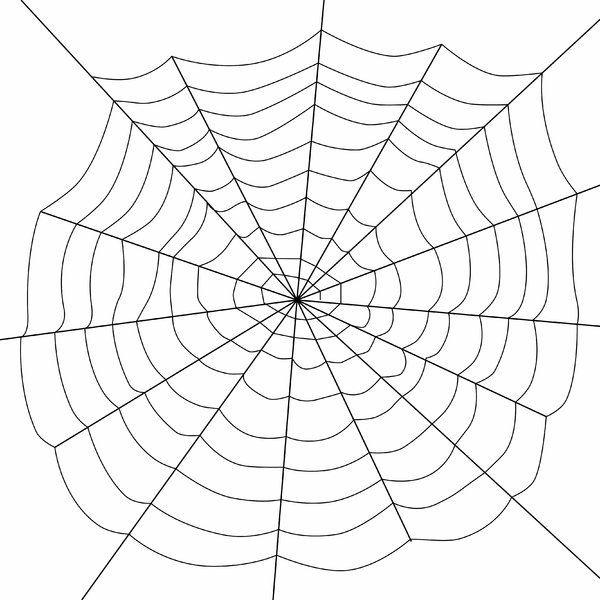 Spider's Web 2: Black web over white.
