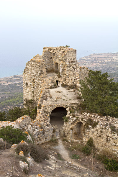 Kantara castle: Remains of Kantara castle, a Crusader castle in northern Cyprus.