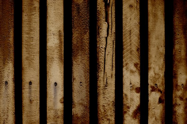 fence: dark wooden fence