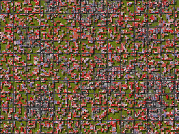 The Burbs: An abstract pattern that looks like a satellite image of a suburban area. Would make a good texture as well.