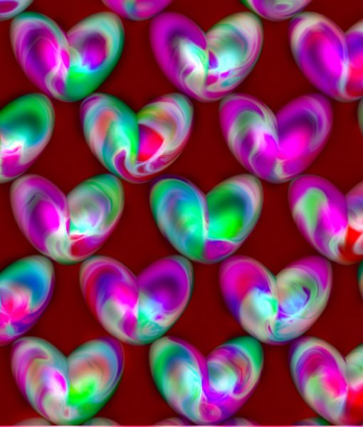 Valentine 3D Hearts 2