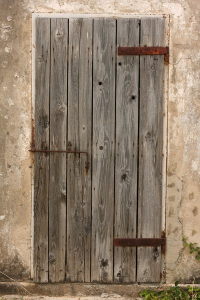 old wooden door: none