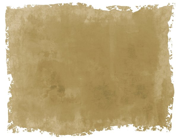 Torn Parchment 3: A grunge parchment or paper background with torn edges, in canvas colours. White background.