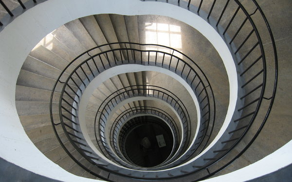 Spiral Staircase: Spiral Staircase at the Deutsches Museum, Munich, Germany
