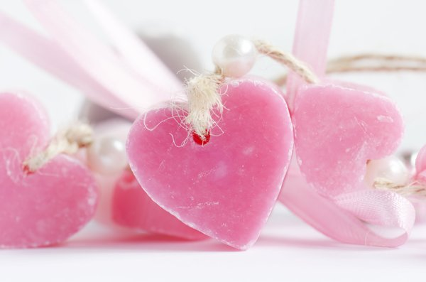 Heart soap: Soft pink heart shaped soap
