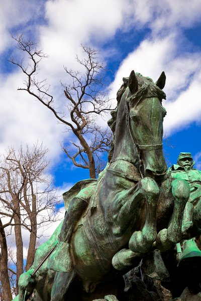 Grant Cavalry Memorial: Ulysses S. Grant Memorial at the base of Capitol Hill in Washington DC.