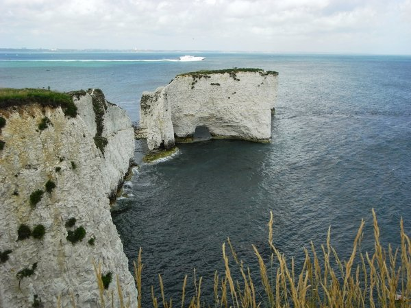 Old Harry Rocks, Dorset: Chalk and chalk sea stacks on Isle of Purbeck, Dorset.