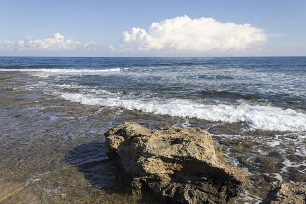 Where the sea begins: Coastal shallows in northern Cyprus.