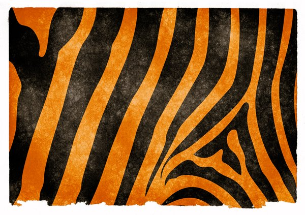 Tiger Stripes Grunge Papieru: