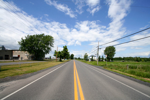 Wide-Angle Rural Road