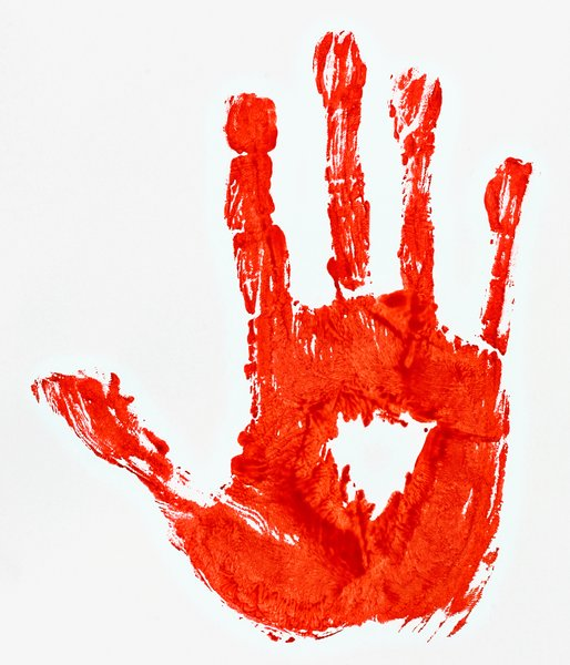 Bloody Hand Print: