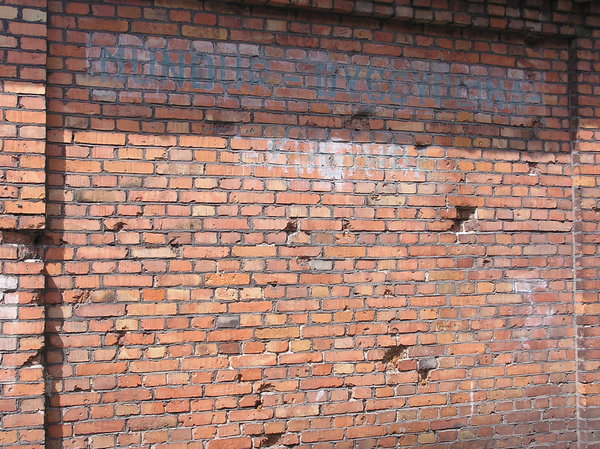 Old wall: Old brick wall of the building.