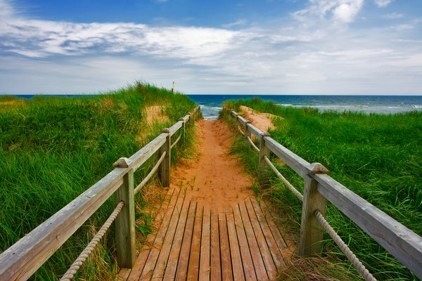 PEI Beach Boardwalk:
