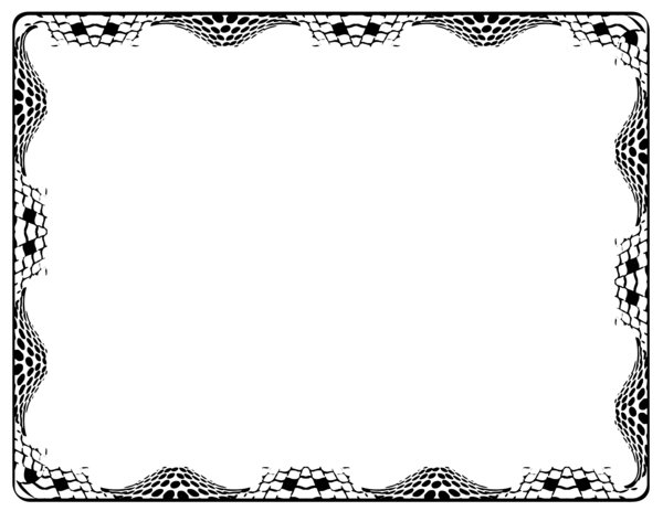 Border - Circles and Squares: Fancy Border - Good for use on certificates, etc......