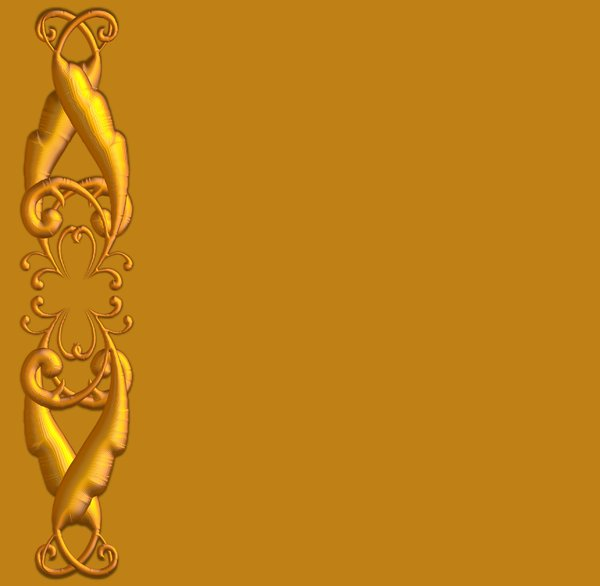Golden Ornate Border 4: A golden ornate border or frame on a golden background. Very elegant and old fashioned in a classic style.
