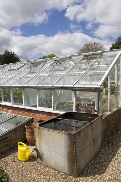 Greenhouse and water tank