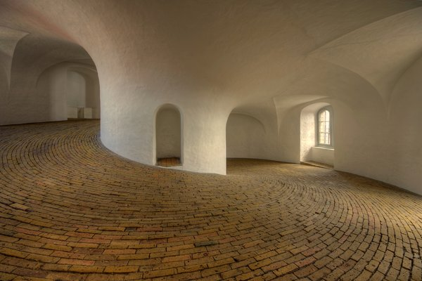 Inside the Round Tower - HDR: Inside the Round Tower of Copenhagen you don't find a long staircase. You find a long smooth