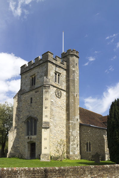 Old English church: An old church in Buckinghamshire, England.