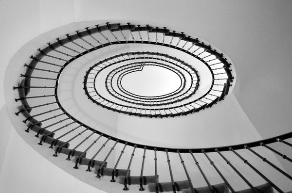 Spiral Stair: Spiral staircase at the Hotel Amigo, Brussels, Belgium