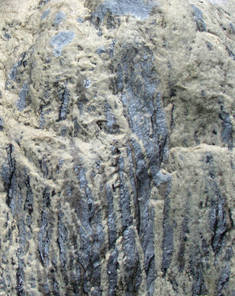 smooth textured rockface1: smooth molten like streaming rock vein textures
