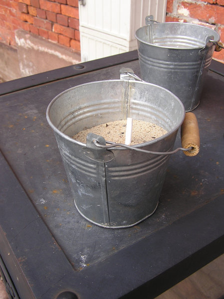 Bucket with sand